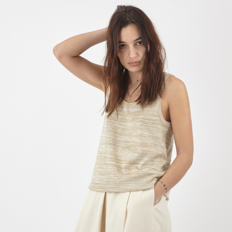 Leni Knit Tank Top - Natural
