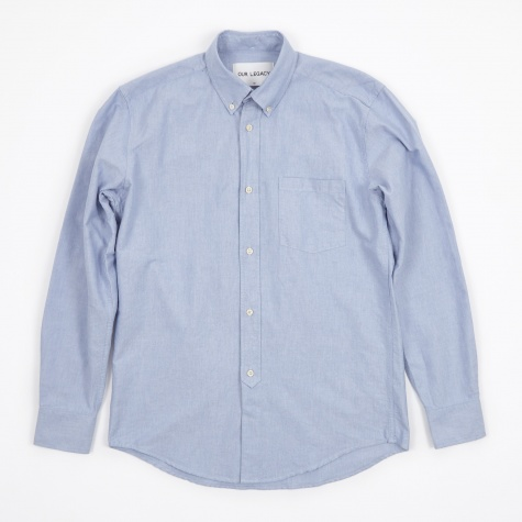 1940s Shirt - Blue Oxford