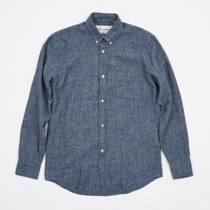 our legacy 1940s shirt chambray