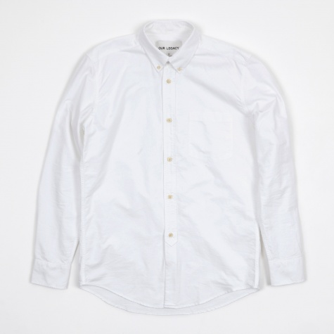 1940s Shirt - Heavy White Oxford