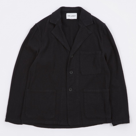 Lab Blazer - Black Cotton Boucle