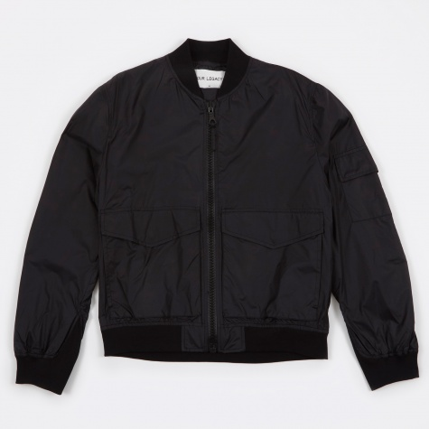 Patchpocket Bomber - Silky Black
