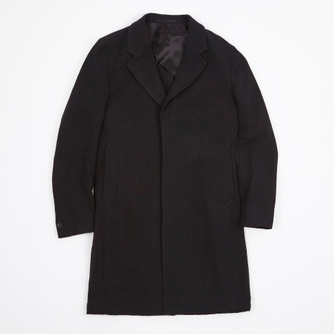 Unconstructed Classic Coat - Black Cotton Boucle