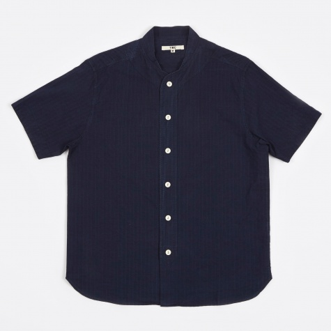 Stitch Stripe Baseball Shirt - Indigo