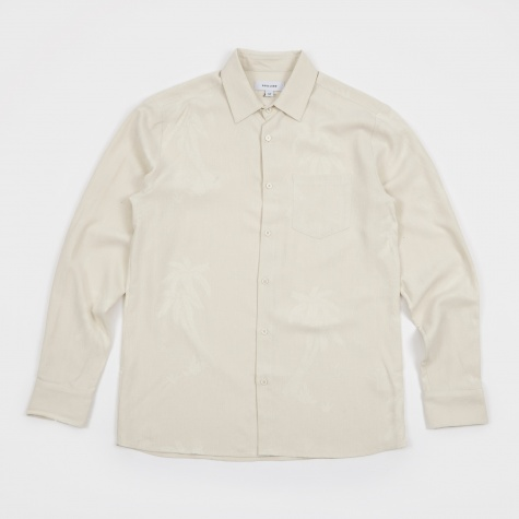 Dustin Jacquard Silk Shirt - Off White