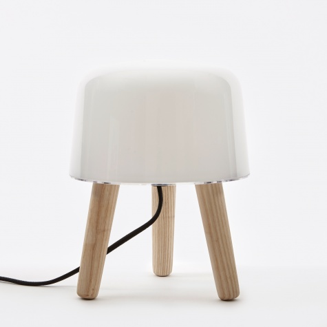 Milk Table Lamp - Black Cord
