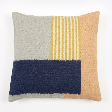 Kelim Cushion - White Lines