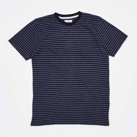 Niels Mouline Stripe T-Shirt - Dark Navy