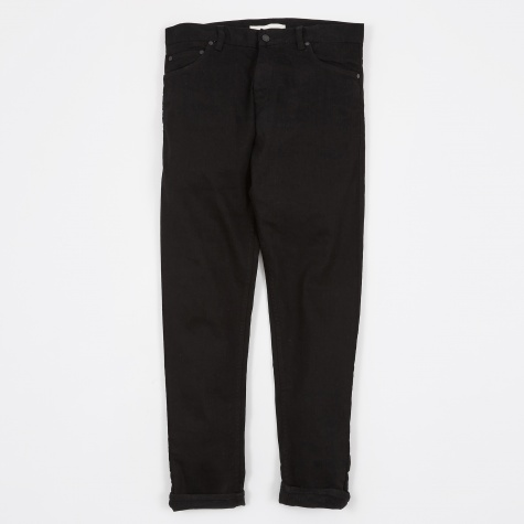 Slim Denim Zip - Black