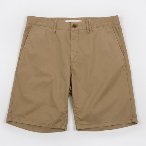 Aros Slim Light Twill Short - Khaki