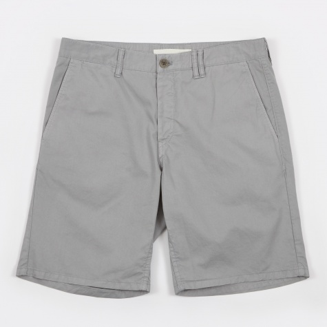 Aros Slim Light Twill Short - Light Grey