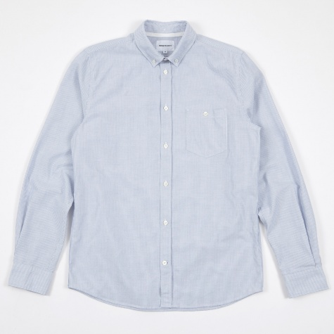 Anton Oxford Shirt - Navy Stripes