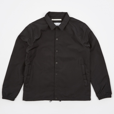 Svend Coach Nylon Poplin Jacket - Black