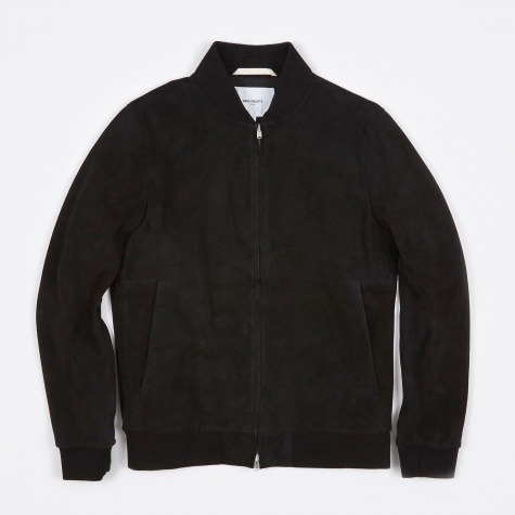 Hak Suede Jacket - Black