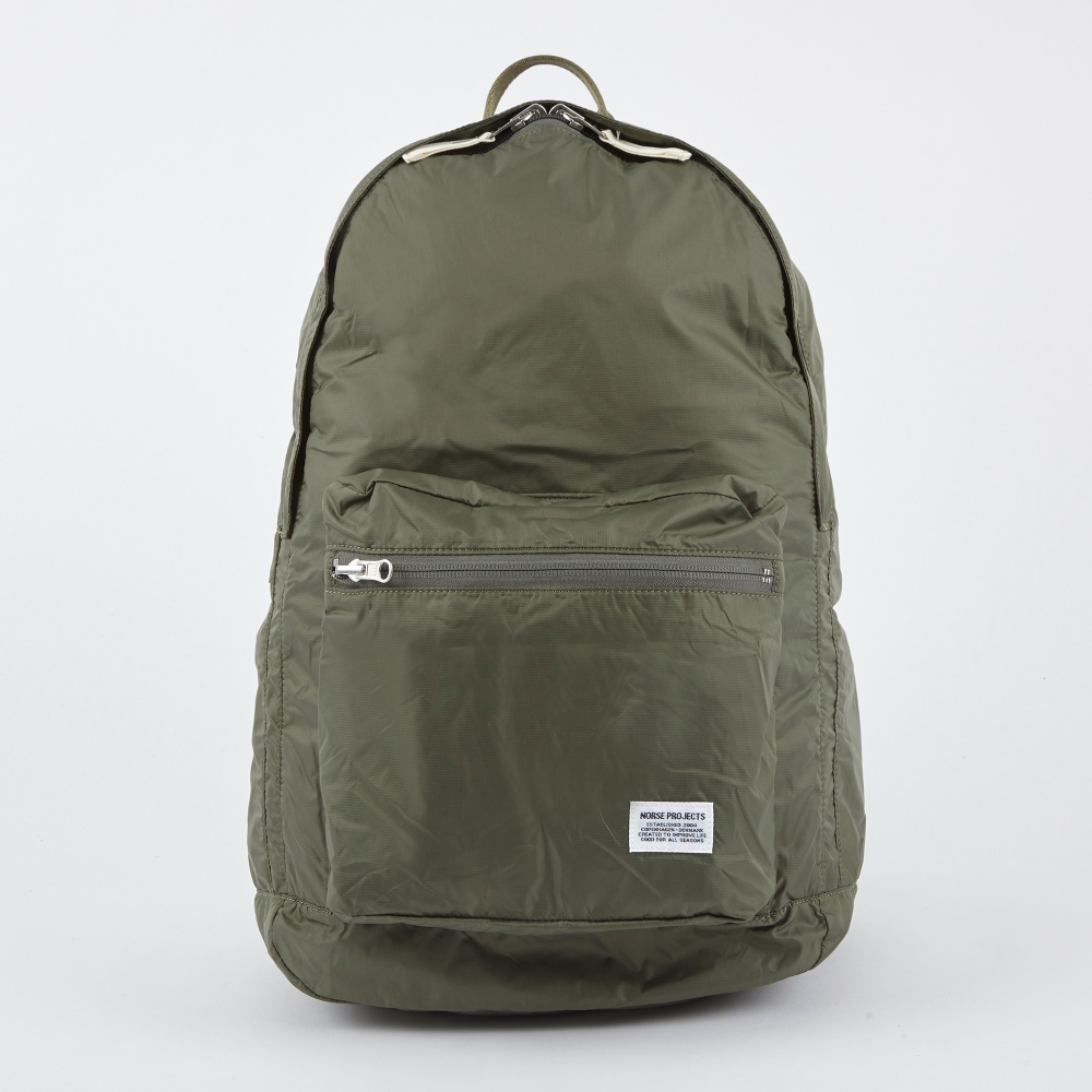 norse projects louie day pack light ripstop bag dried olive