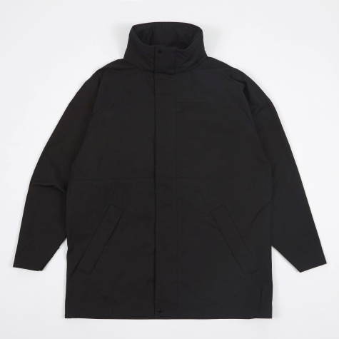 Tech Twill Overcoat - Black