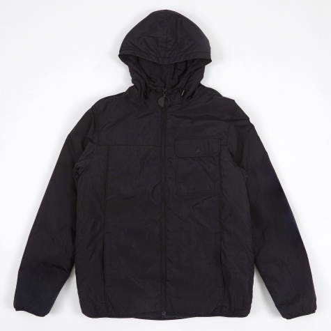 Piped Seam Rain Jacket - Black