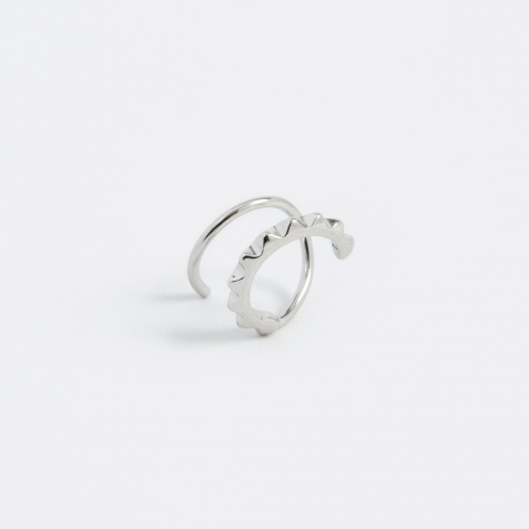 Klaxon Twirl Right Earring - Silver