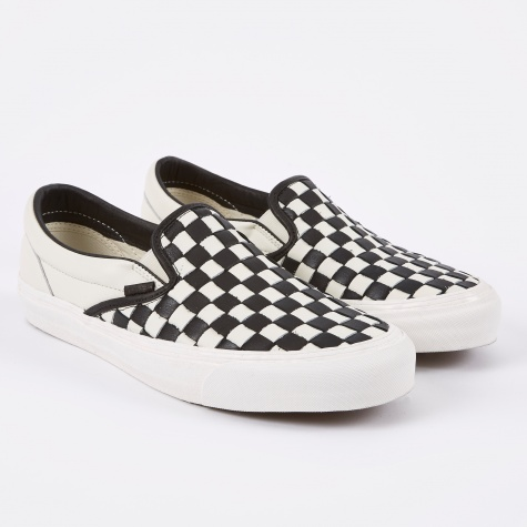 Vault OG Classic Slip-On LX Woven - Checkerboard Black/Whit