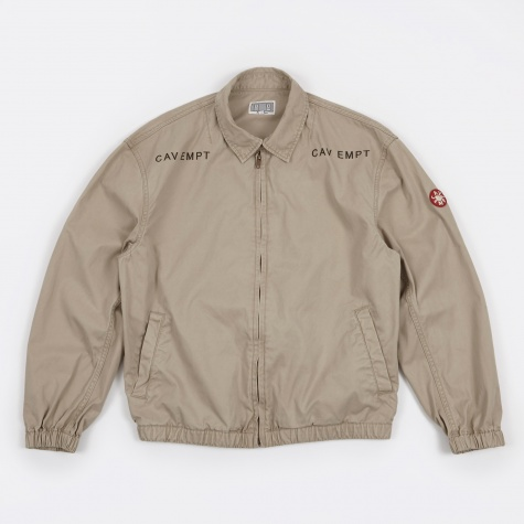 Cotton Zip Jacket Jacket - Beige