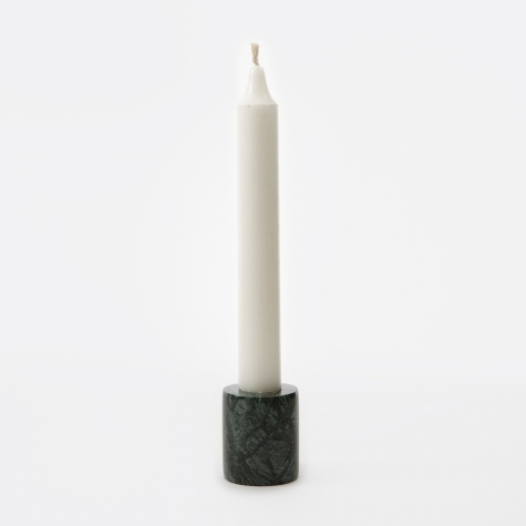 Marble Candleholder - Green - Small