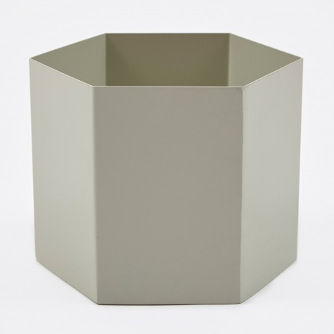 Large Hexagon Pot - Grey
