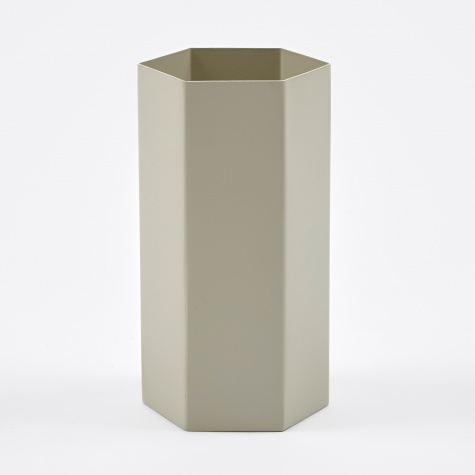 Hexagon Vase - Grey