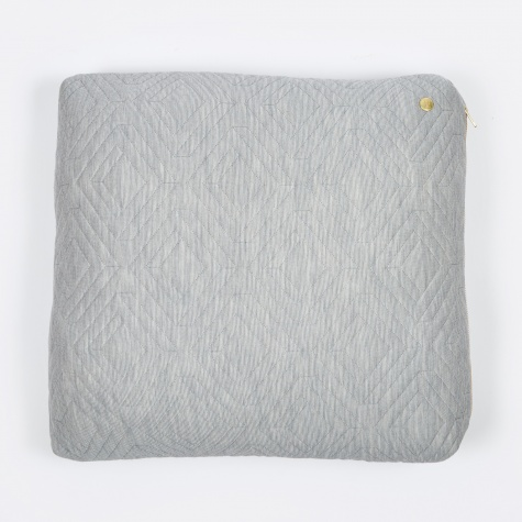 Quilt Cushion - Light Grey - 45 x 45