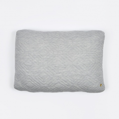 Quilt Cushion 60x40cm - Light Grey