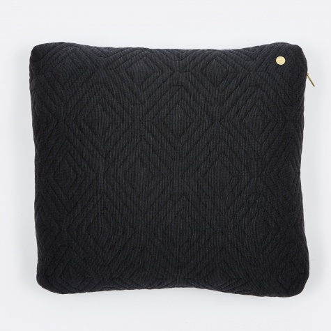 Quilt Cushion - Dark Grey - 45 x 45