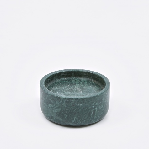 Candle Holder 'Lova' Marble Ø9x4cm - Green