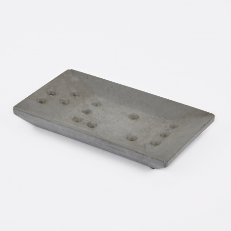 Soap Dish Rectangle - Grey