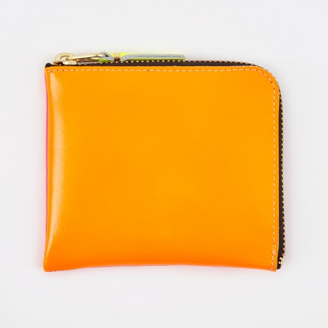 Comme des Garcons Wallet Super Fluo S (SA3100SF) - Orange/Pink