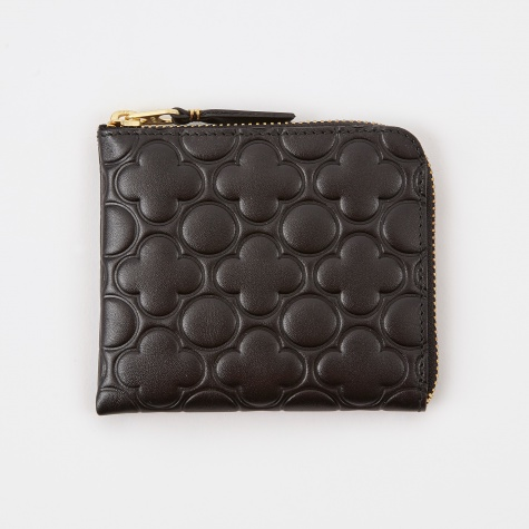 Comme Des Garcons Wallet Embossed S (SA310EB) - Black