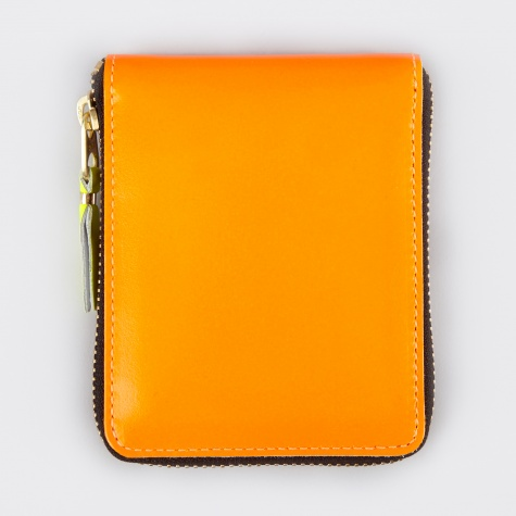 Comme des Garcons Wallet Super Fluo XS (SA7100SF) - Light Orange