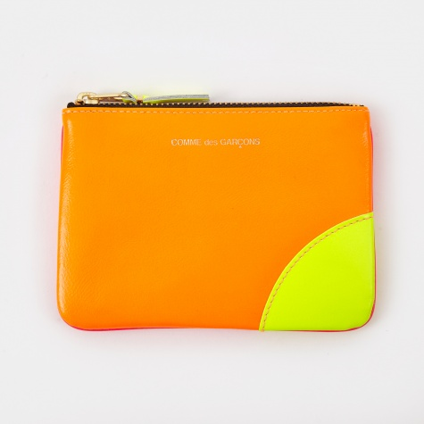 Comme des Garcons Wallet Super Fluo (SA8100SF) - Orange/Pink