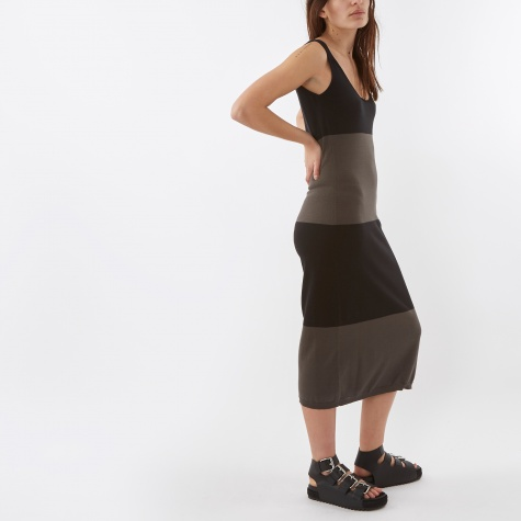 Catterpillar Tank Dress - Grey/Black