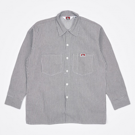 Long Sleeve Work Shirt - Hickory Stripe