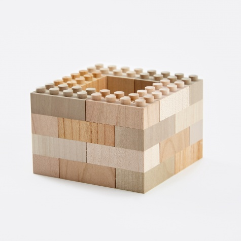 Wooden Building Blocks - 24 Pieces