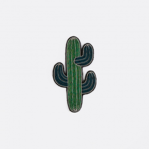 Large Cactus Embroidered Pin