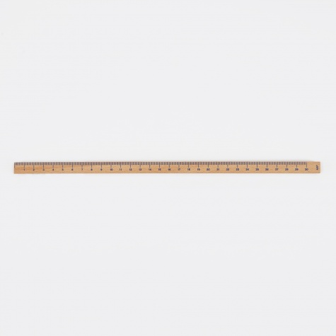Wooden Ruler Cube Untreated- Blue