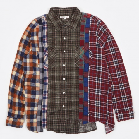 7 Cuts Rebuild Flannel Shirt  - Assorted
