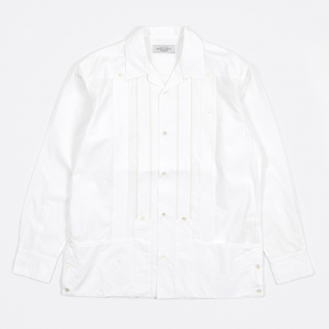 Open Collar Shirt - White