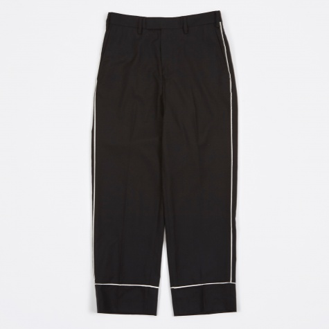 Piping Trousers - Black