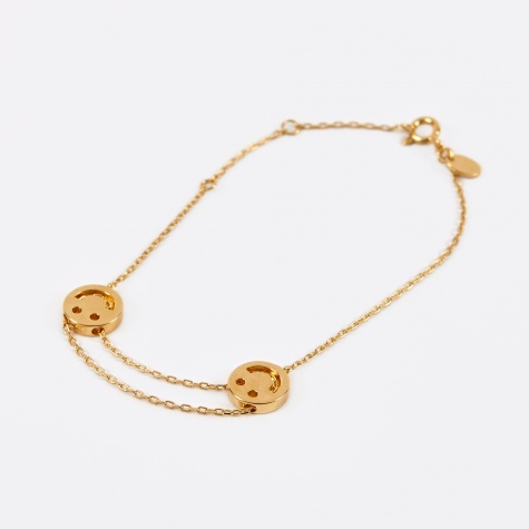 Double Happy Bracelet - 18K Yellow Gold Vermeil