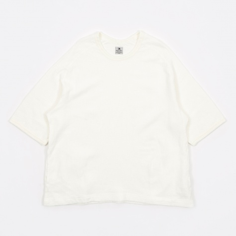 Window Waffle Half Sleeve - Off-White