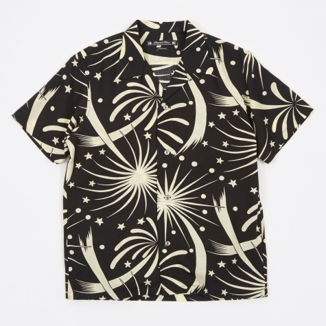 Fireworks Aloha Half Sleeve Shirt - Black/Yello