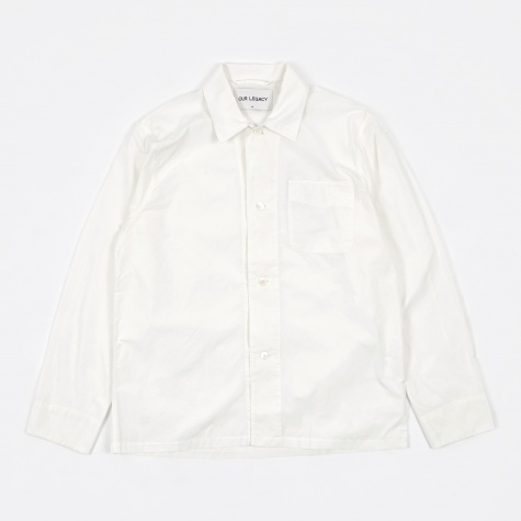 Box Shirt - White Poplin