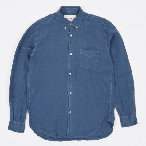 1950's Shirt - Denim Blue