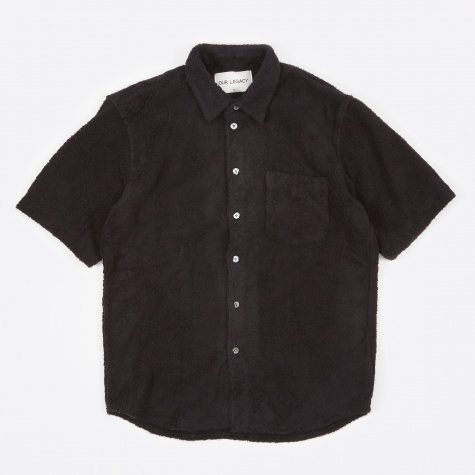 Terry Shirt Short Sleeve - Black